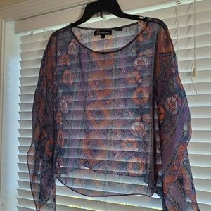Tops - Batwing style blouse size Large.